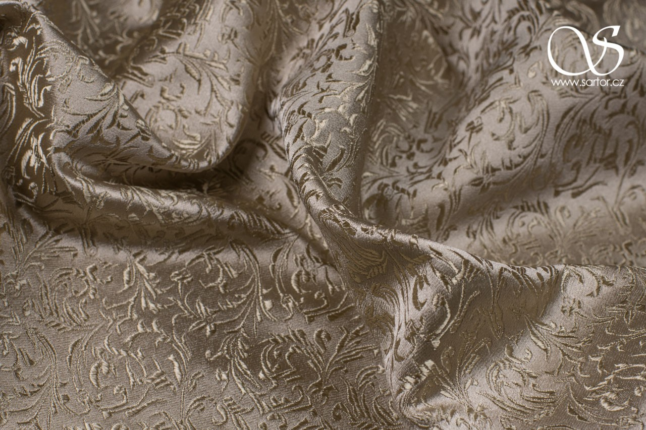Brocade Ornaments, Beige
