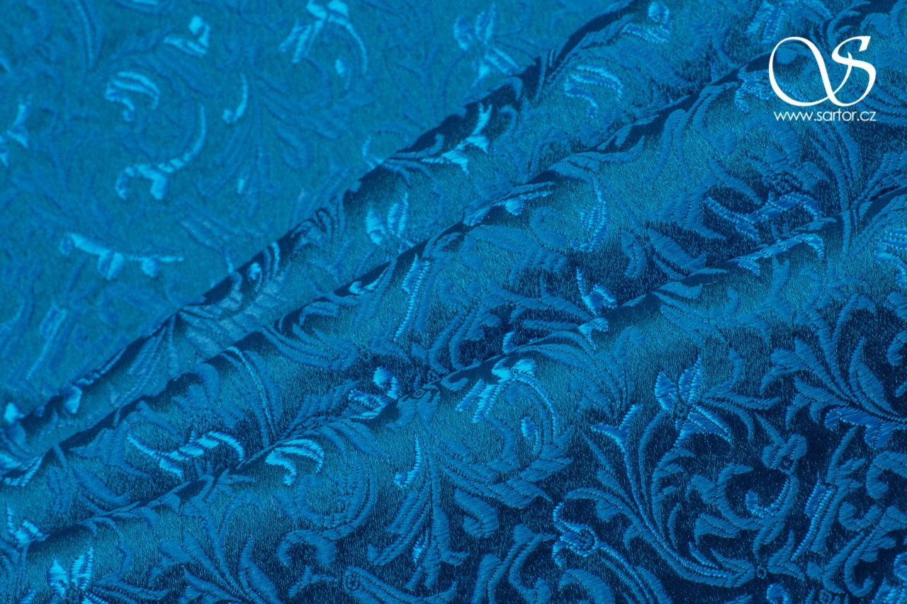 Brocade Ornaments, Turquoise