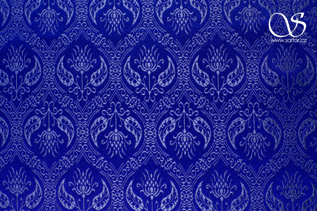 Brocade Spanish Renaissance, Royal Blue