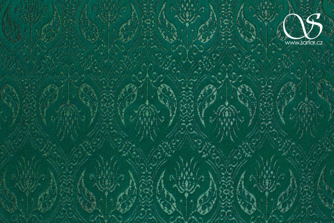 Brocade Spanish Renaissance, Dark Green