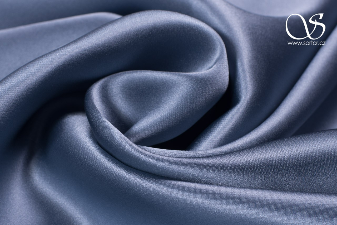 Satin, Steel Blue