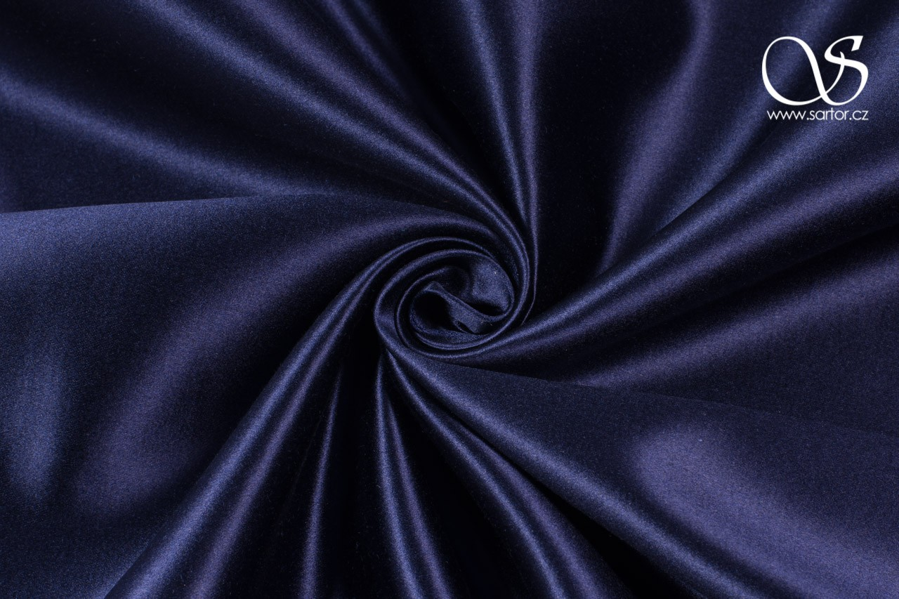 Silk Blend Duchesse, Paris Blue