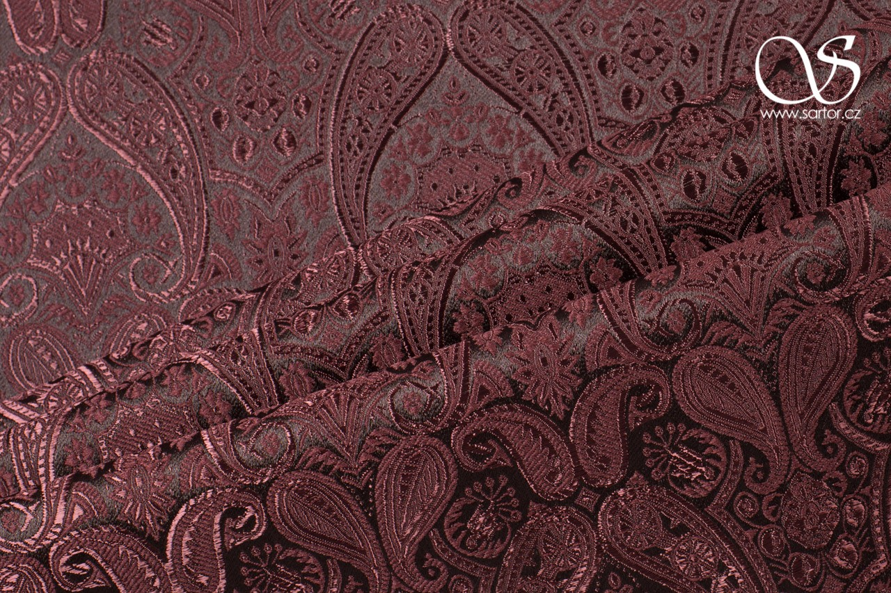 Brocade of the Duke, Dark Brown
