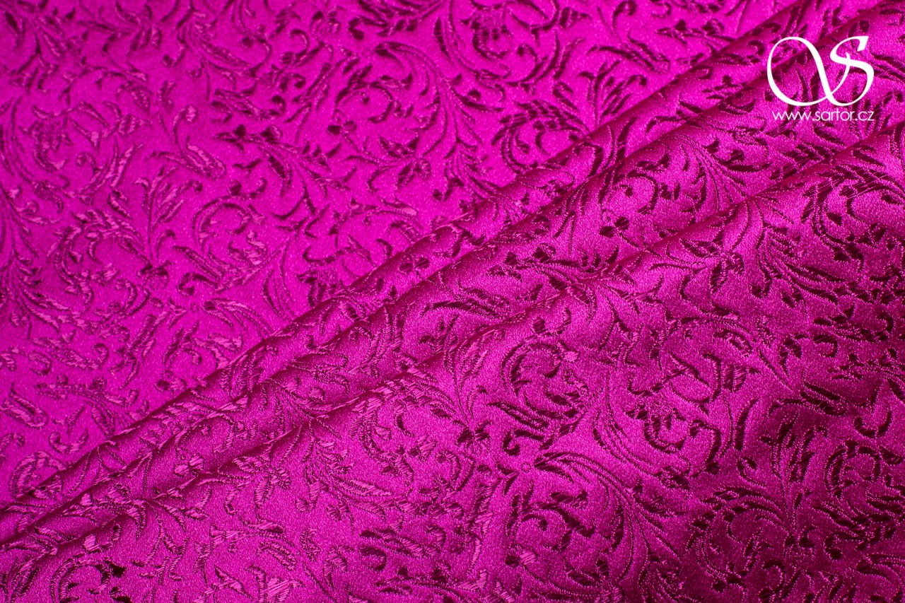 Brocade Ornaments, Fuchsia