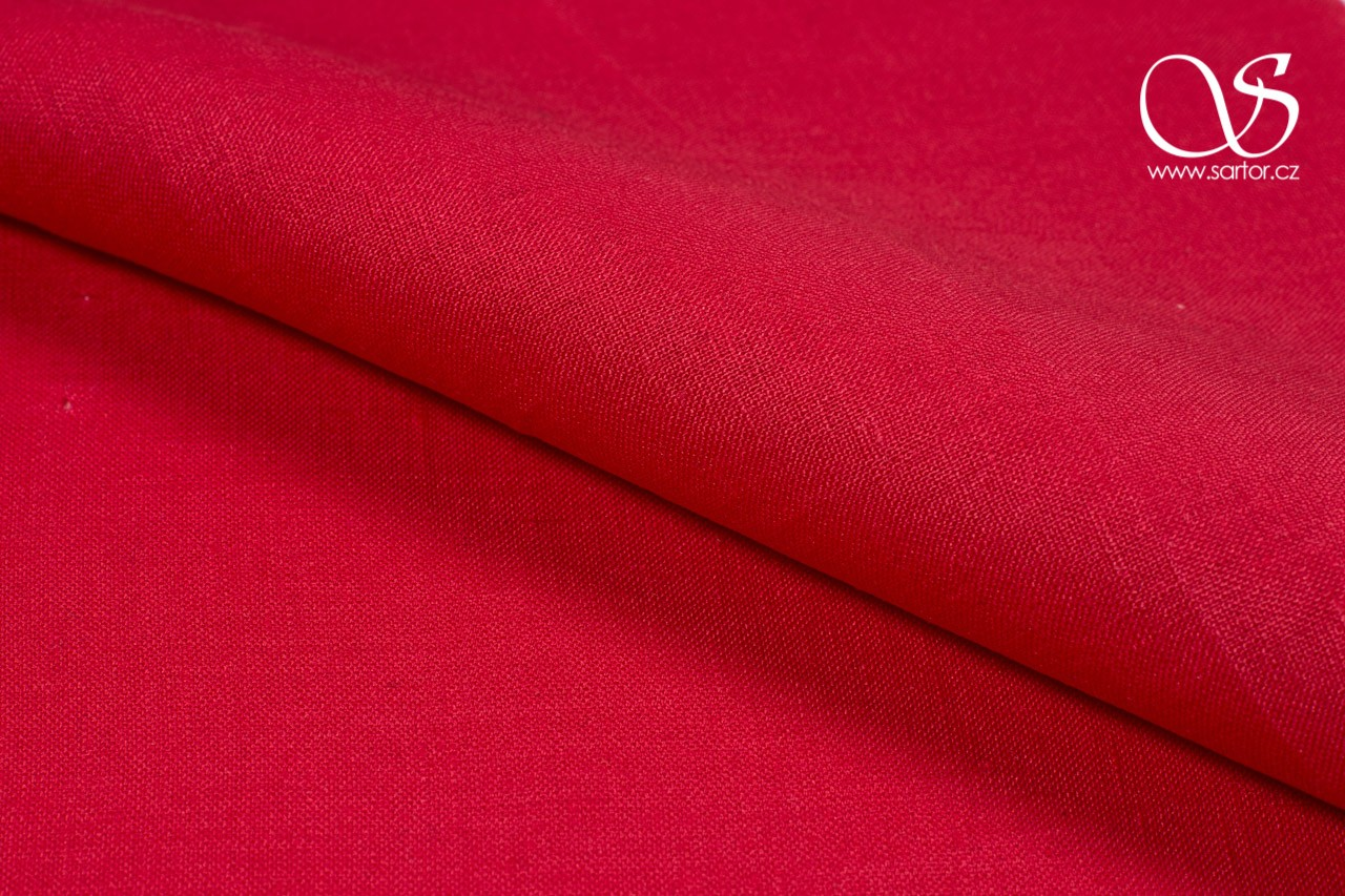 Linen, Strawberry Red