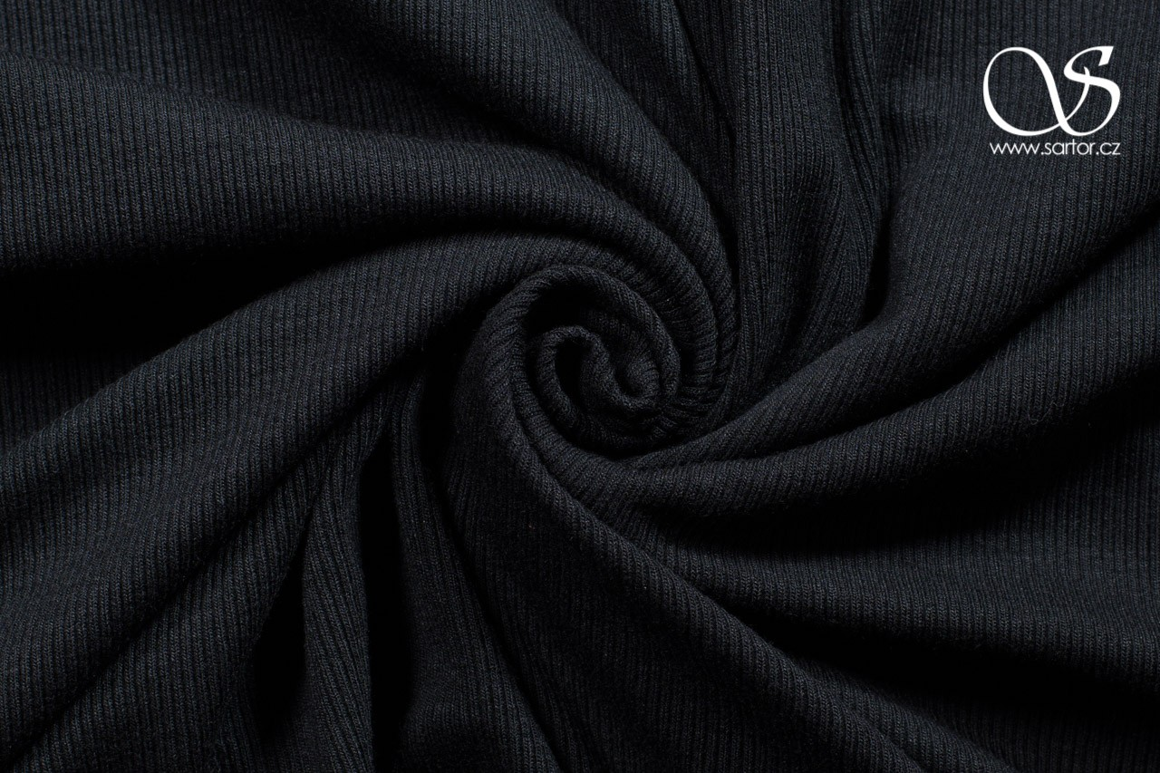 Bamboo Rib Knit, Black