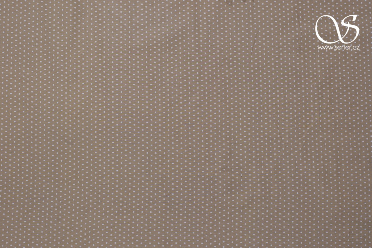 Voil Dots, Beige and White