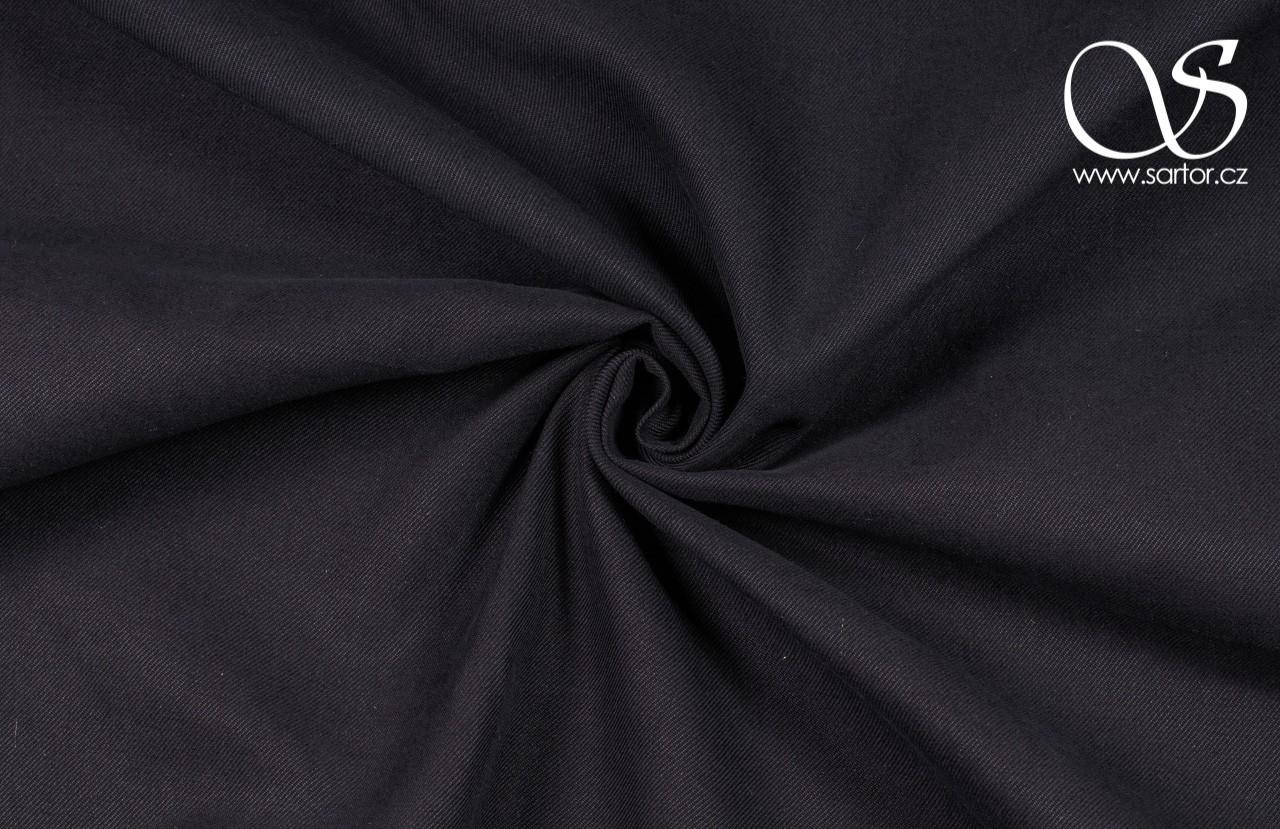 Silk Blend Twill, Black