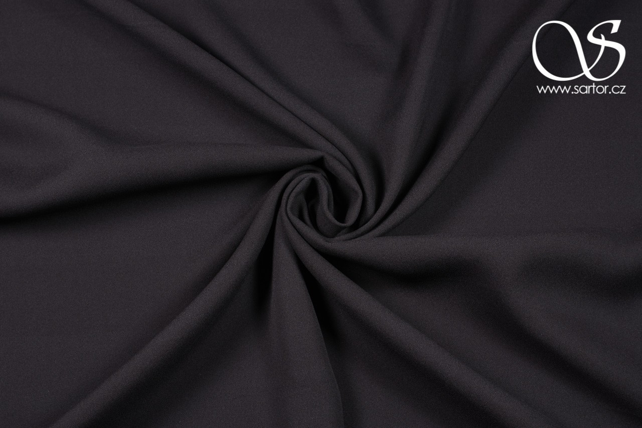 Crepe Georgette, Black, DEFECTS