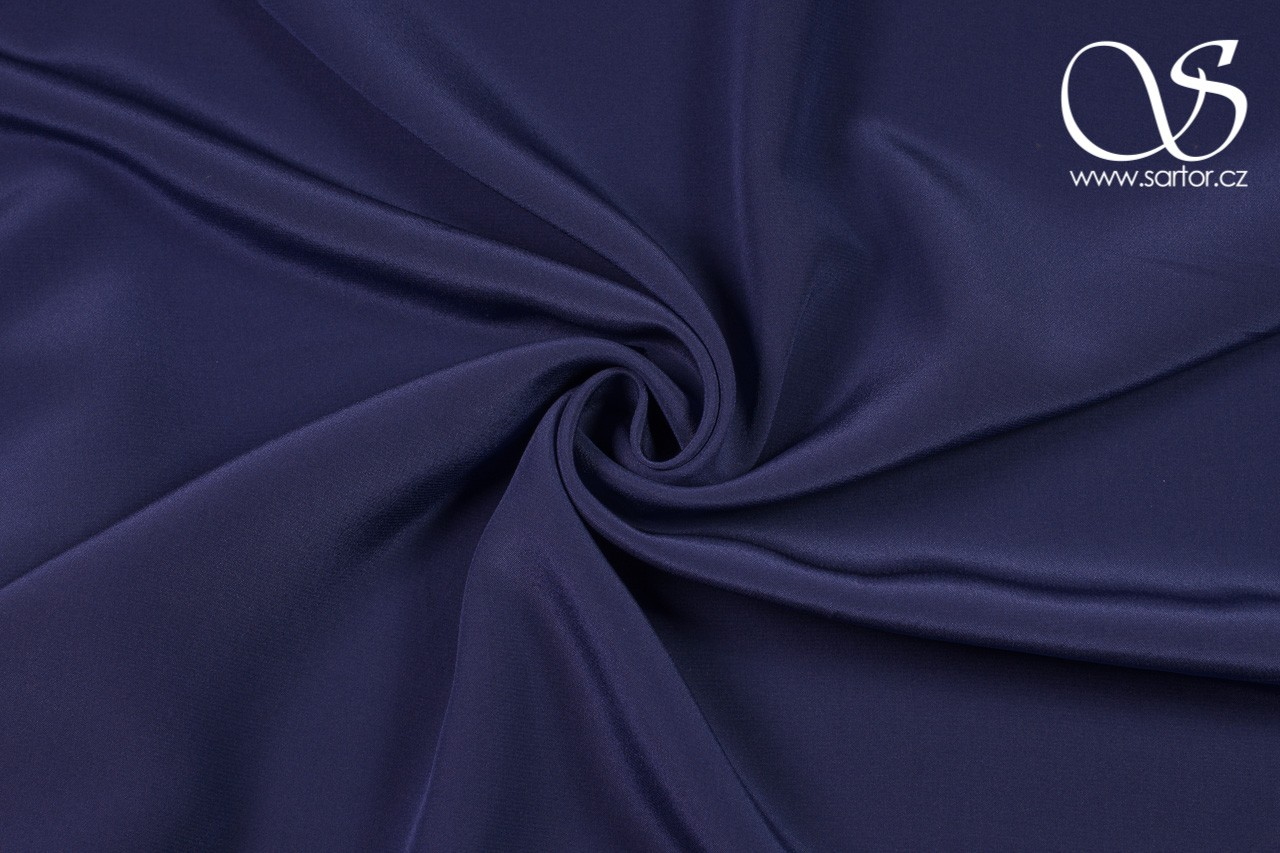 Crepe de Chine, Blue