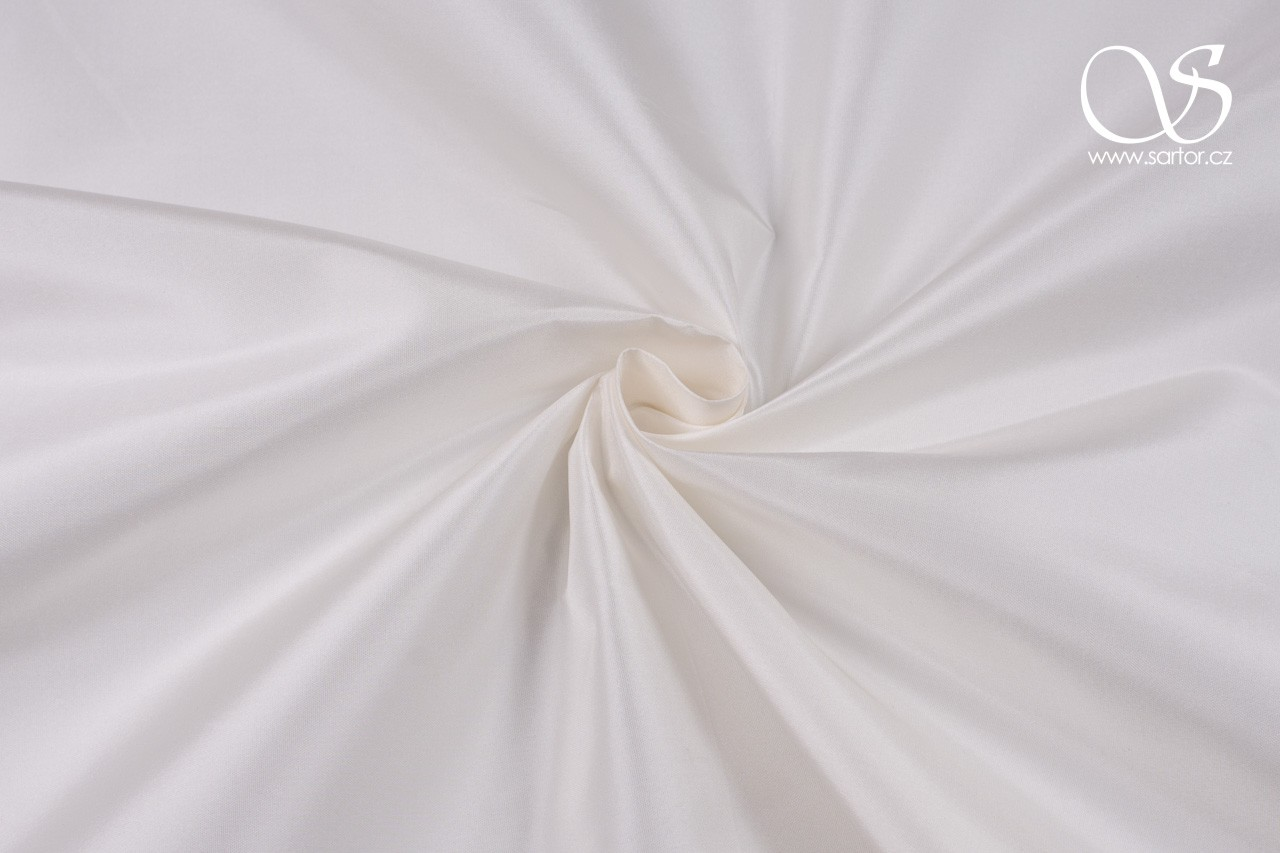 Silk Taffeta, Light Ivory