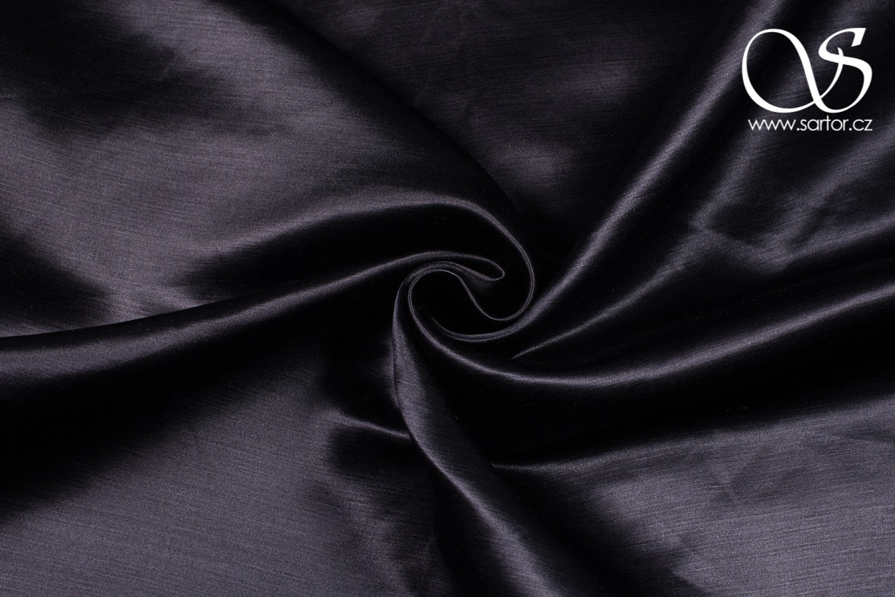 Silk Blend Satin, Black