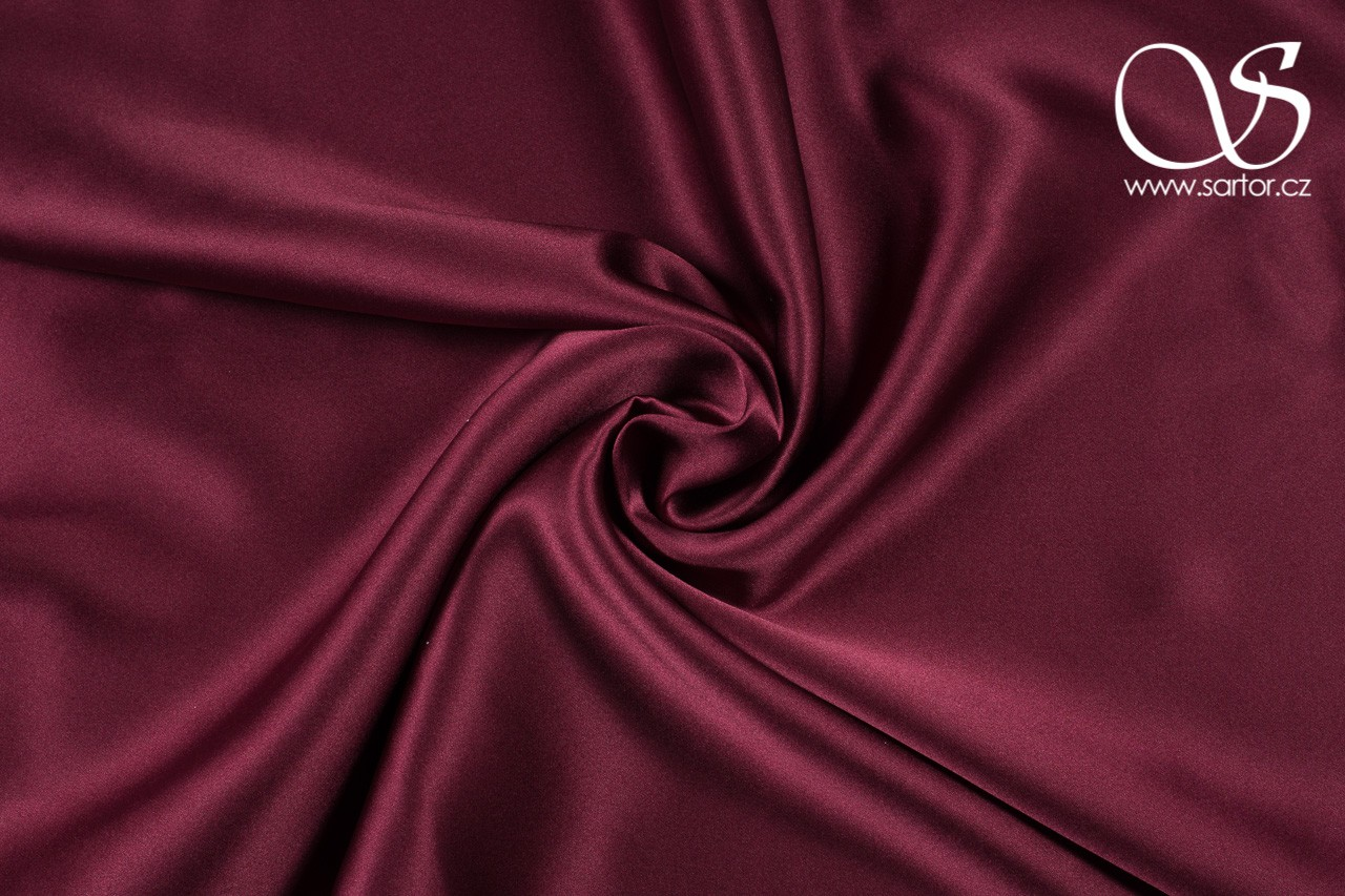 Satin, Wine Red