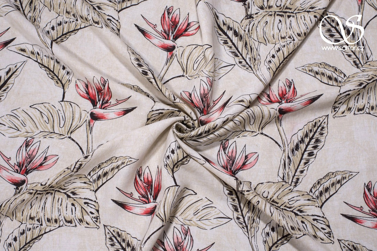 Herringbone Schappe Silk, Heliconia, Light Beige