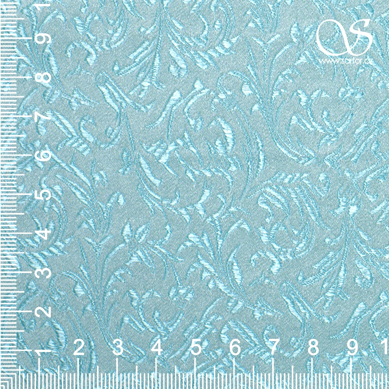 Brocade Ornaments, Aqua