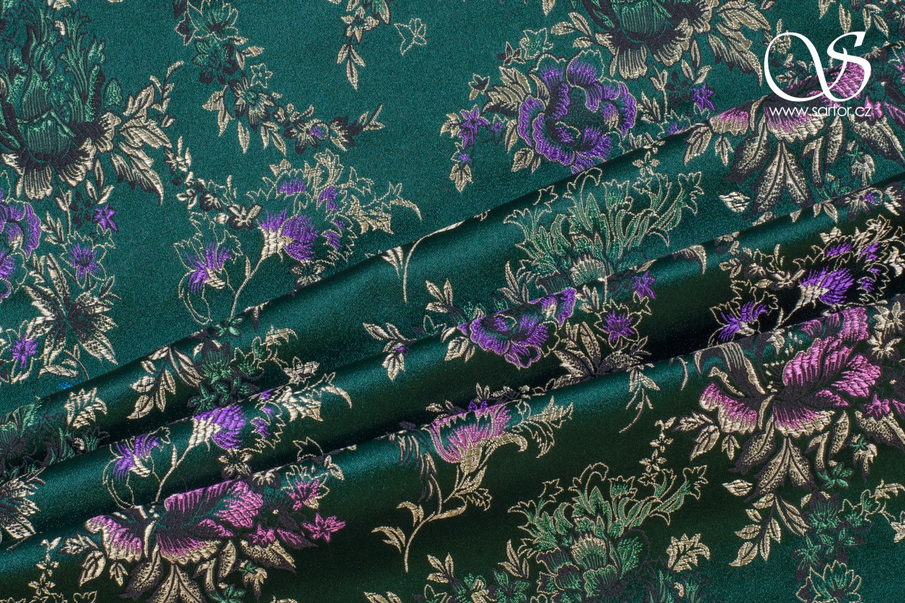 Brocade Bouquet, Dark Green
