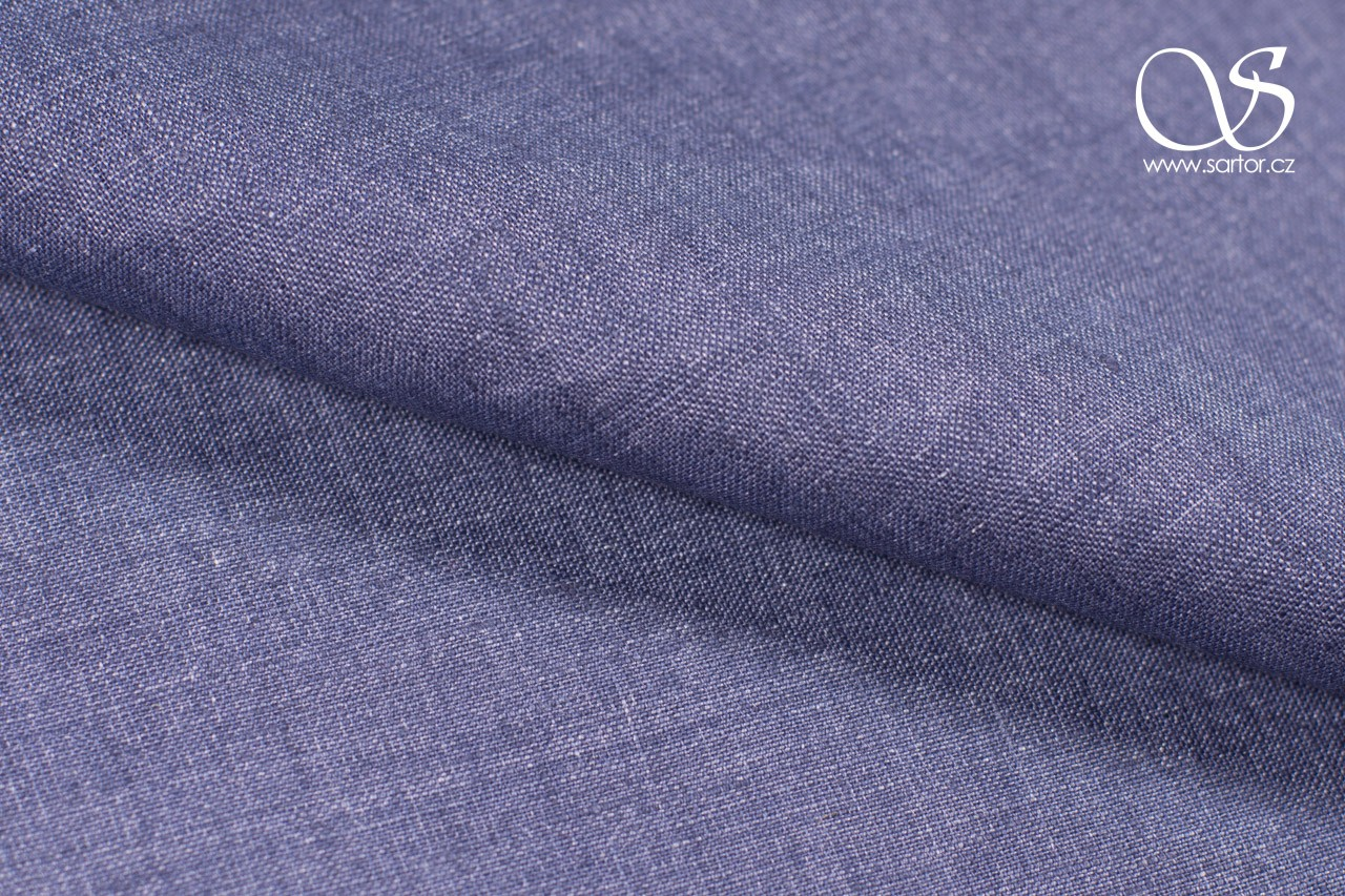 Linen Denim, Grey-Blue