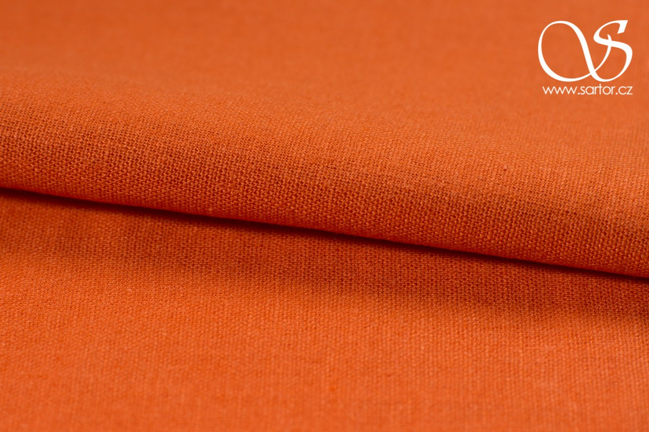 Linen with Cotton, Dark Orange