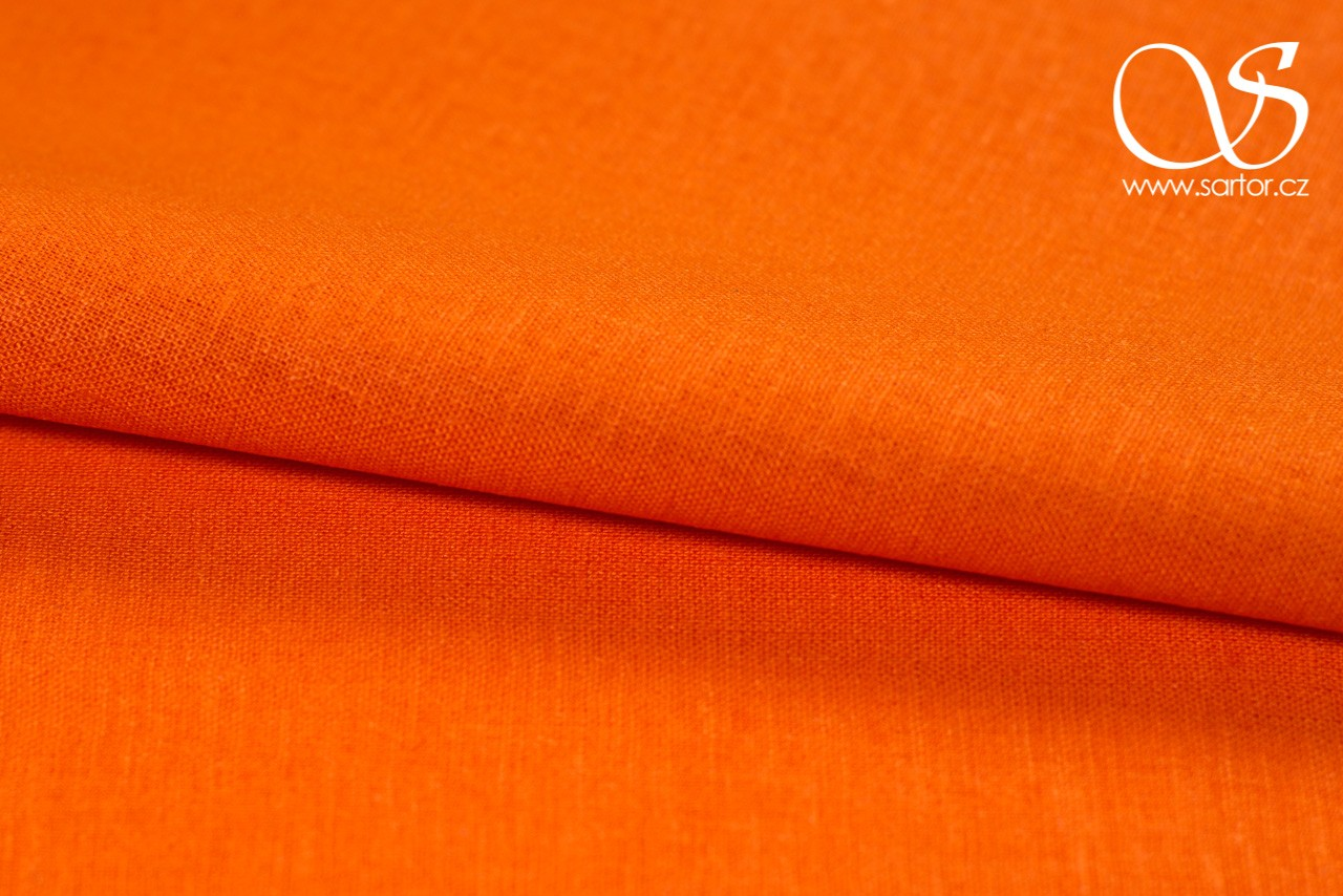 Linen with Cotton, Orange