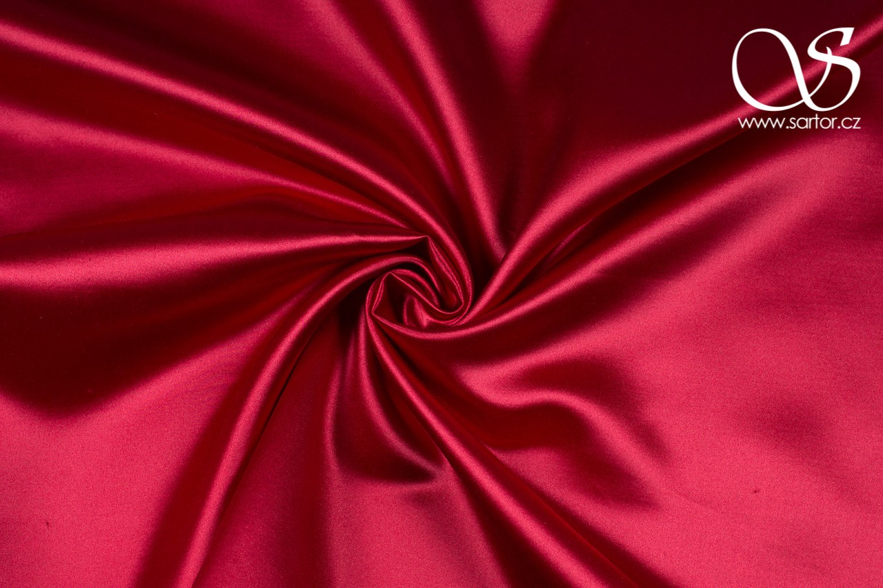 Satin Artificial Silk, Raspberry, DEFECTS
