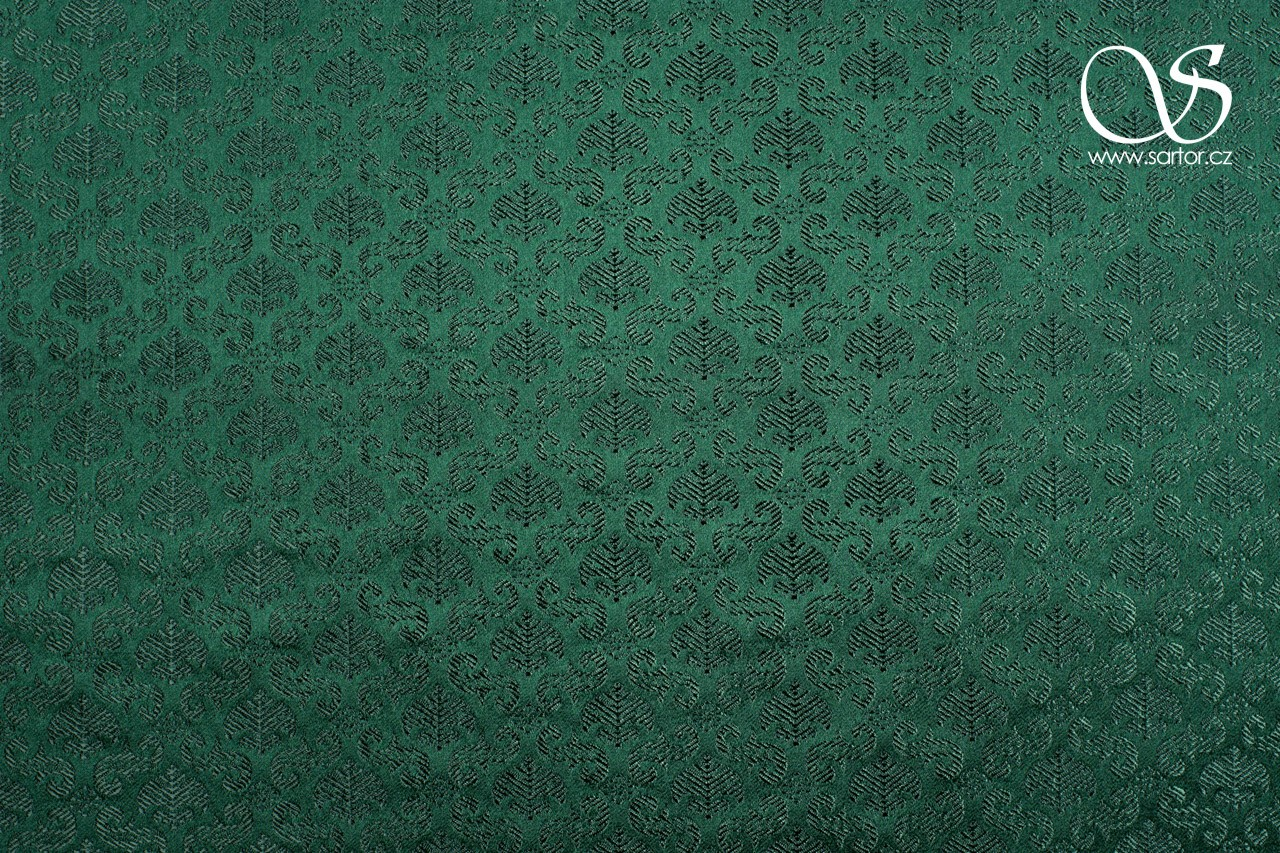 Renaissance Brocade with Palmettes, Dark Green