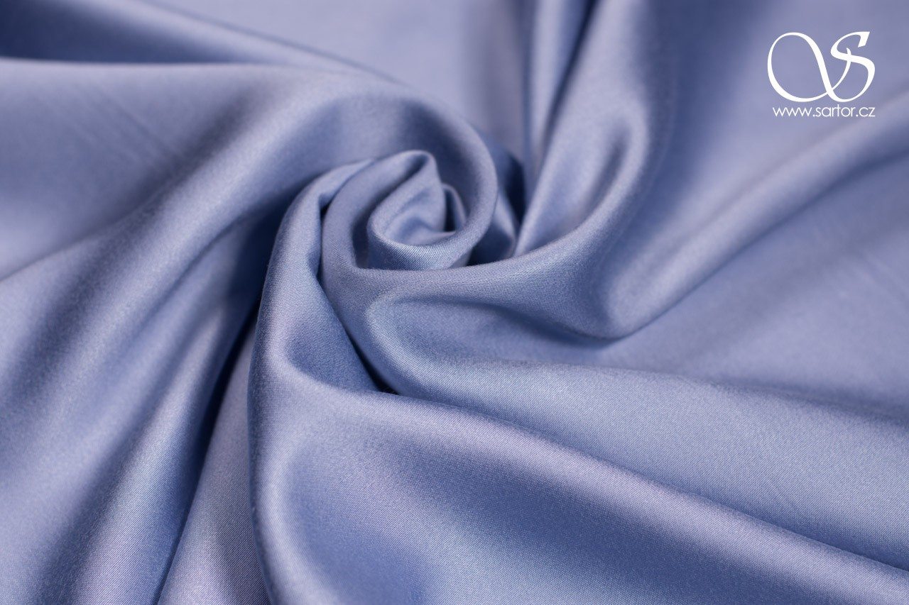 Tencel Satin, Light Blue