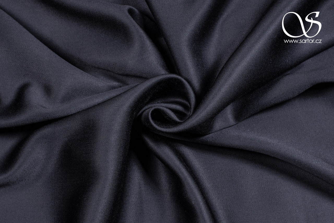 Tencel satin, black
