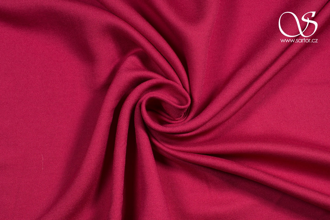 Tencel Crepe Georgette, Crimson