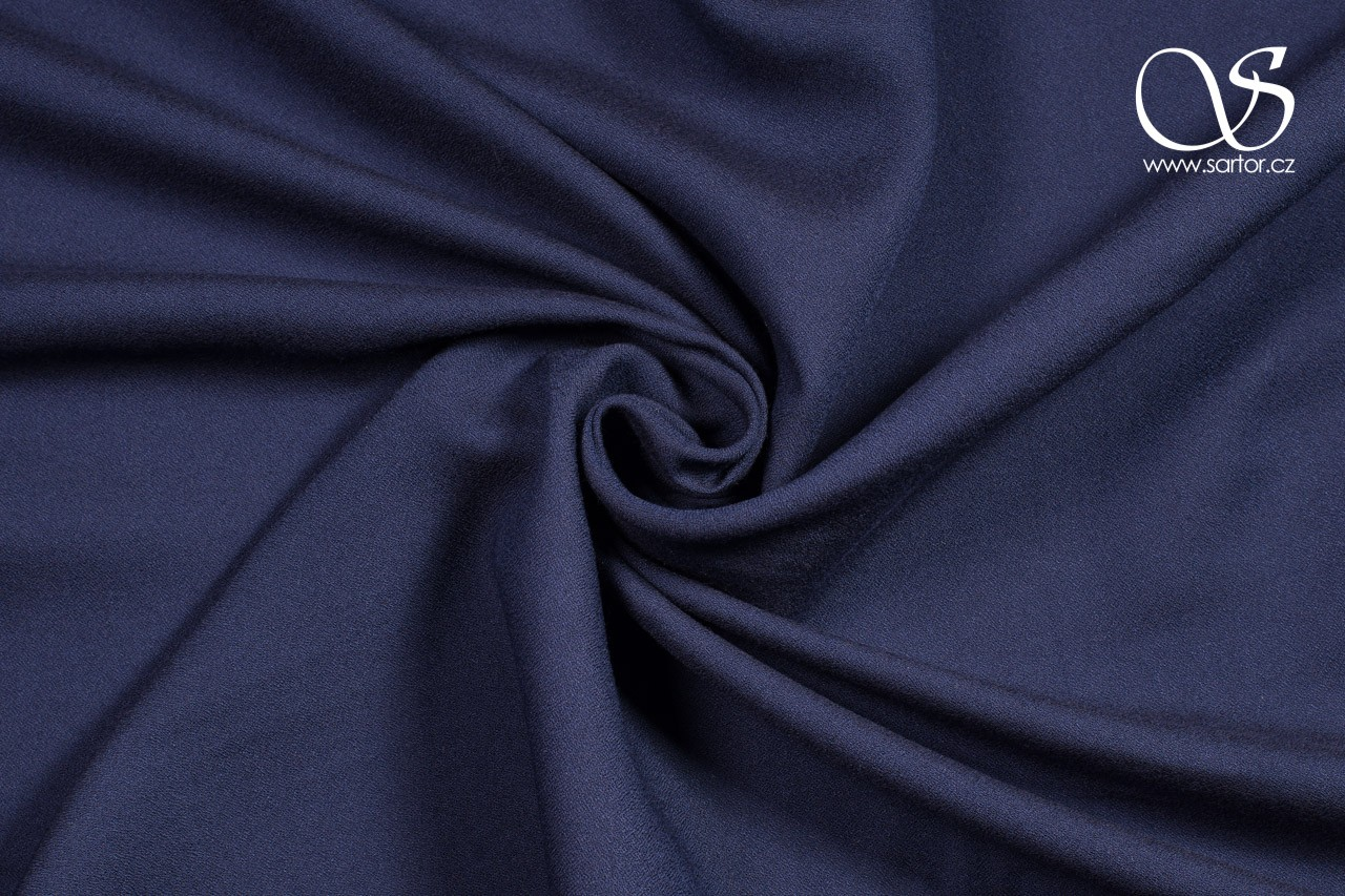 Tencel Crepe Georgette, Dark Blue