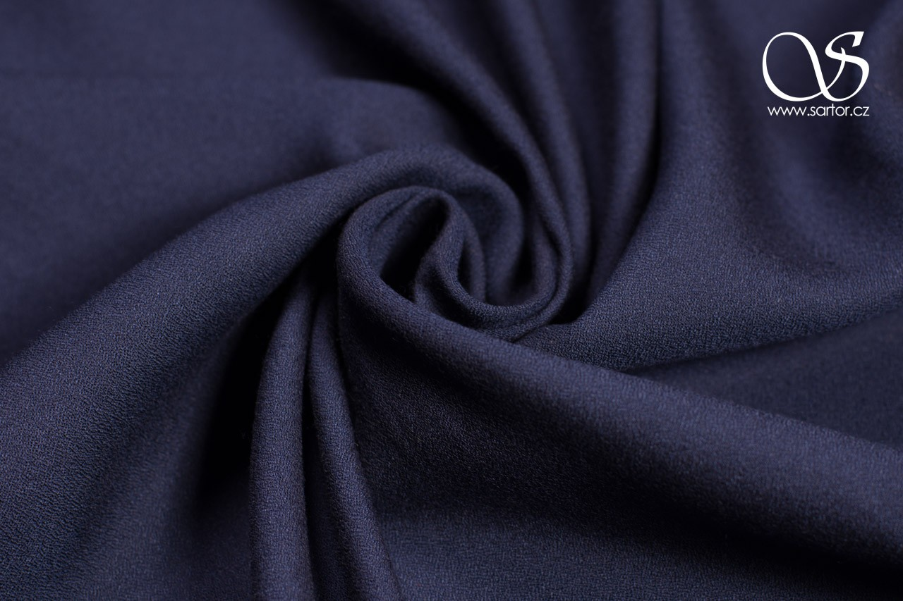 Tencel Crepe, Dark Blue