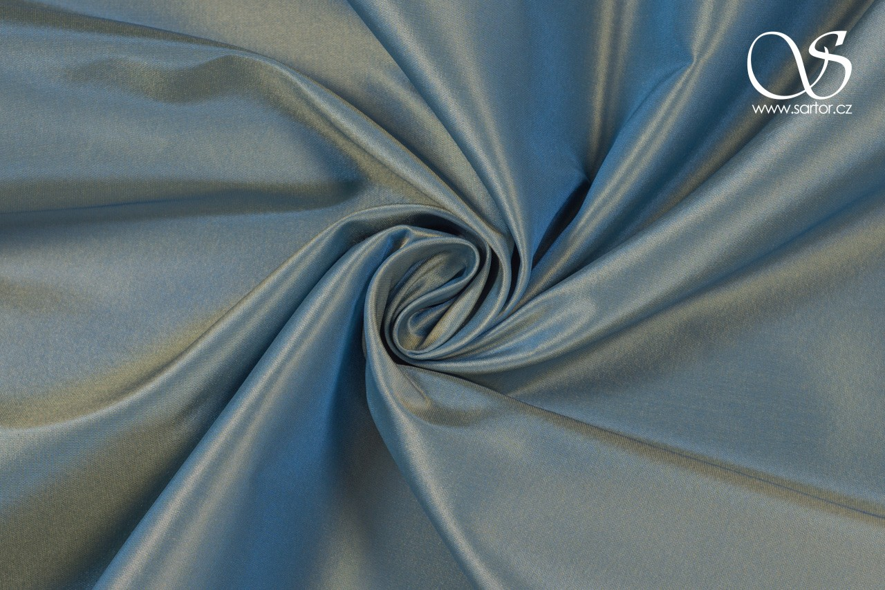 Shot taffeta, blue and yellow