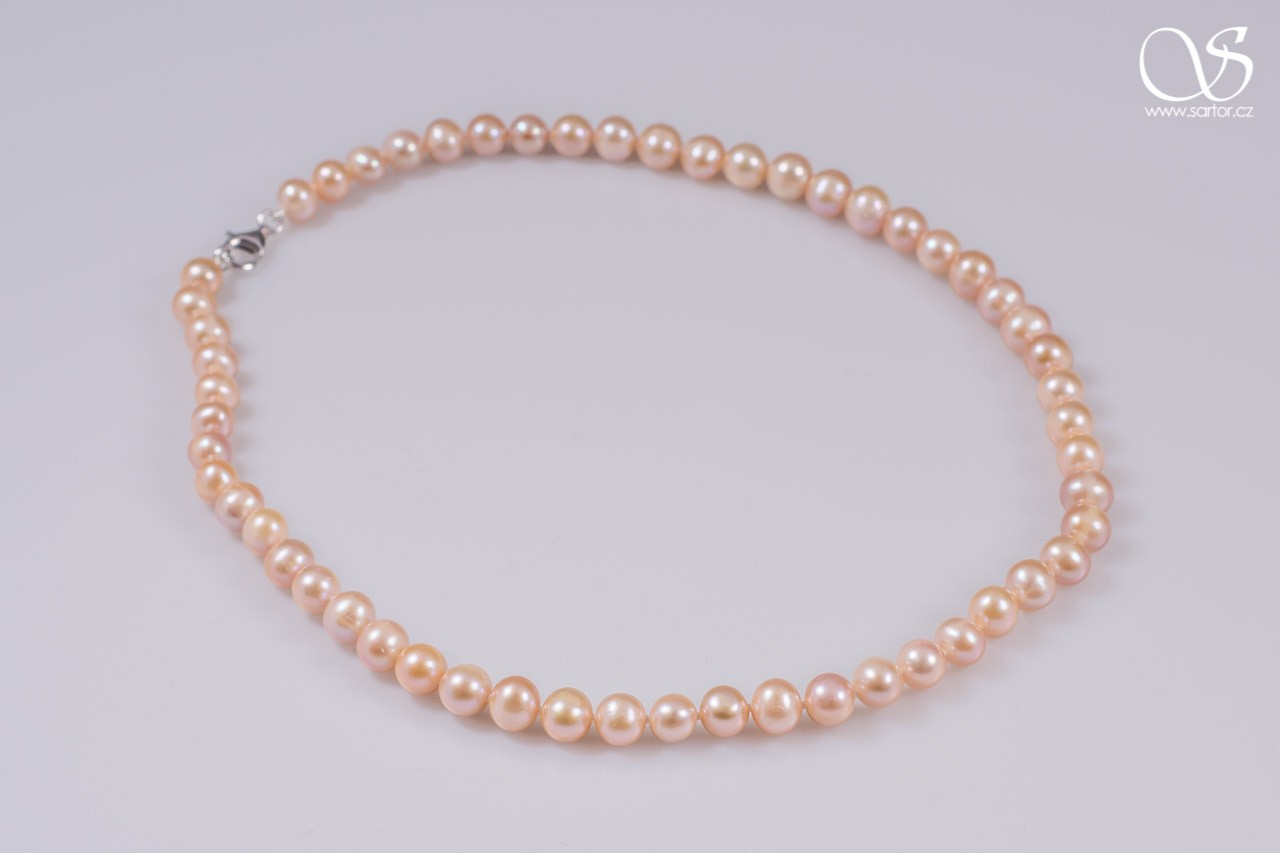 Necklace, Medium Round Pearls