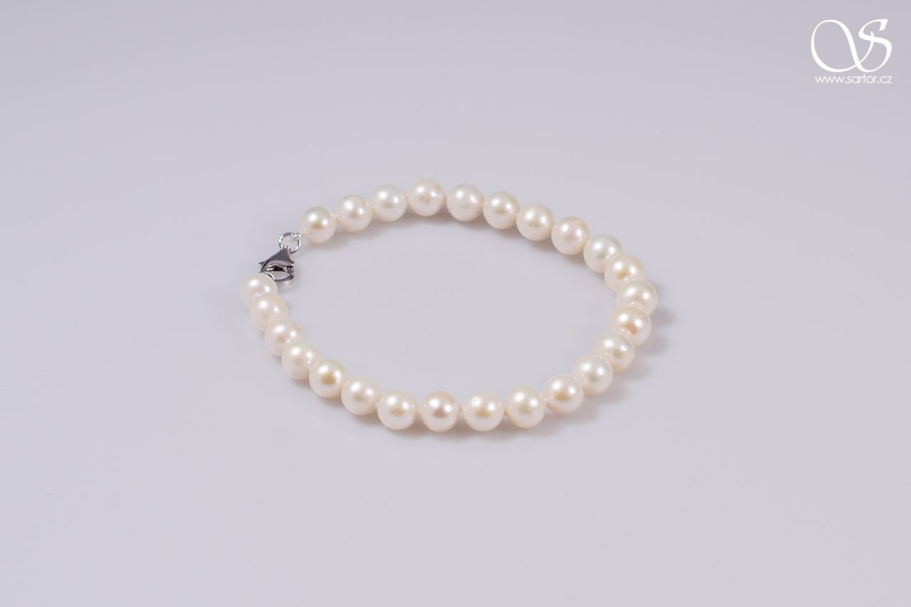 Bracelet, Medium Round Pearls