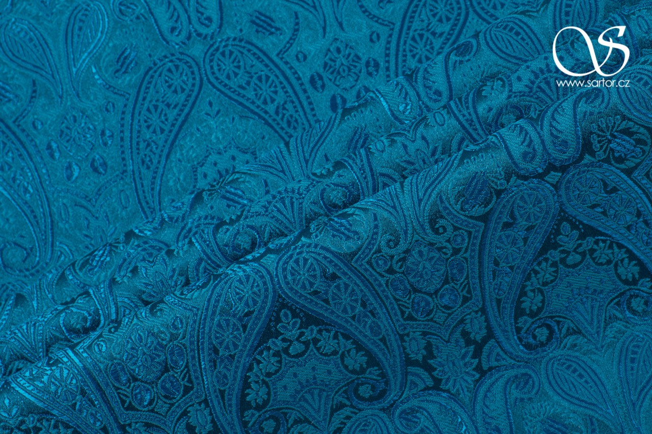 Brocade of the duke,Turquoise