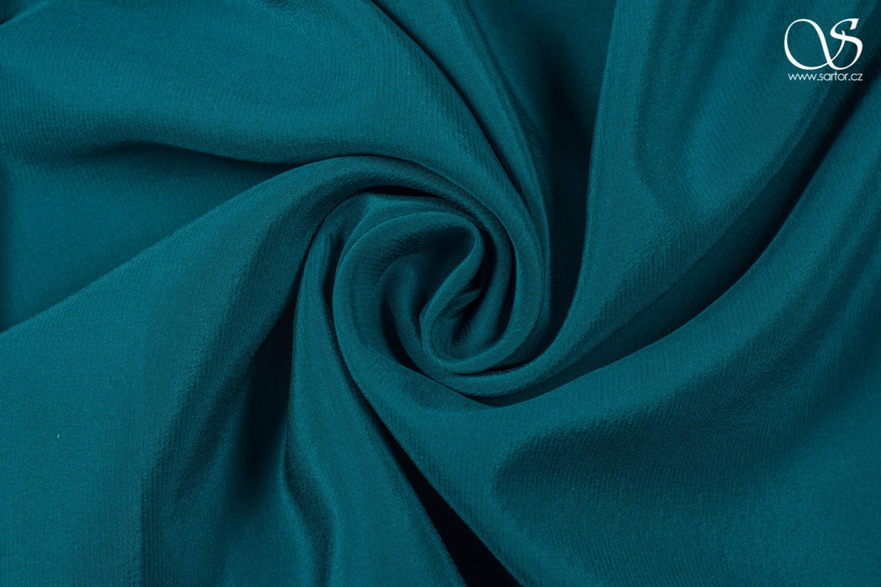 Crepe de chine, teal