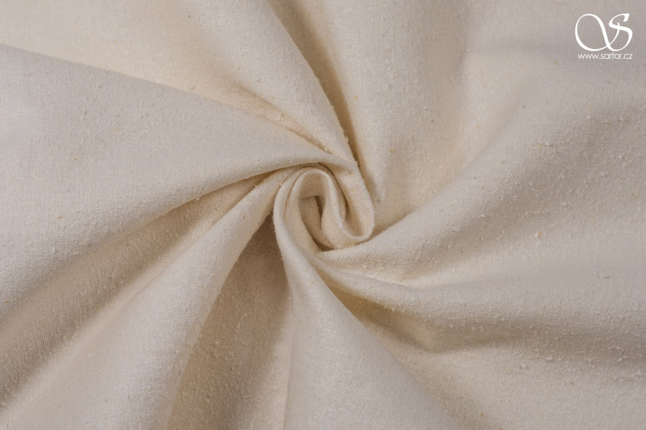 Noil silk, creme, DEFECTS