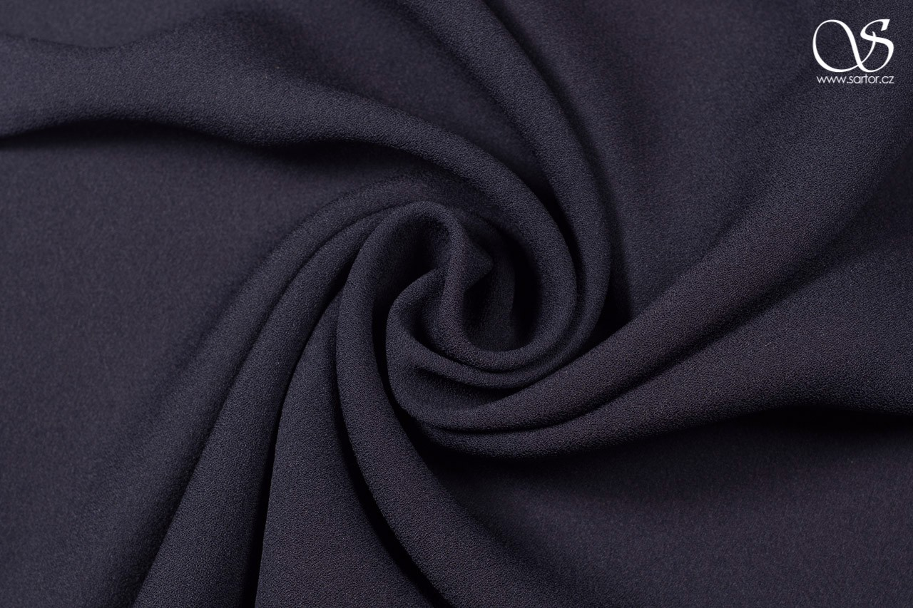 Crepe georgette, dark blue