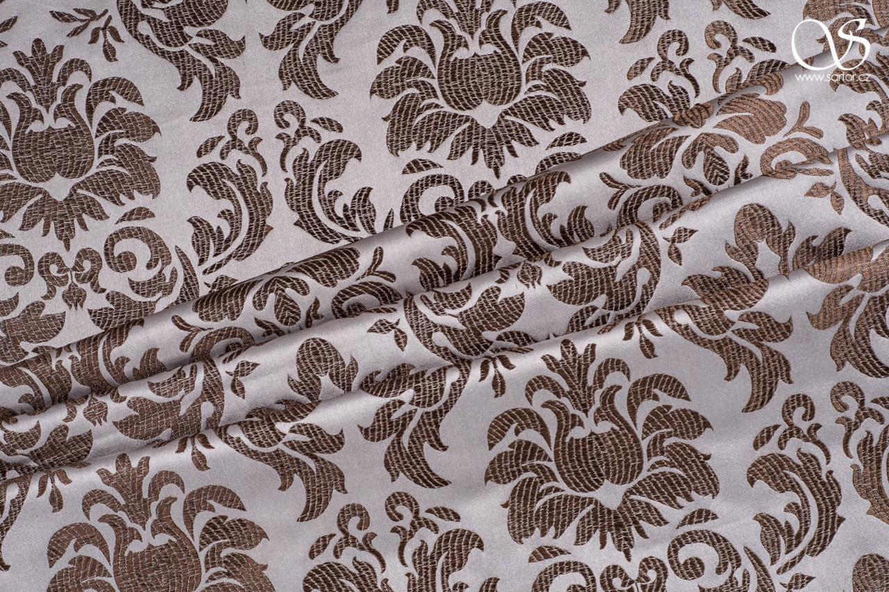 Brocade Lily, silver and brown