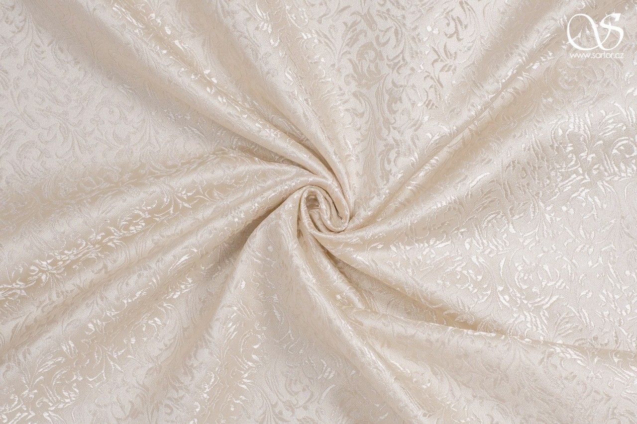 Brocade Ornaments, cream