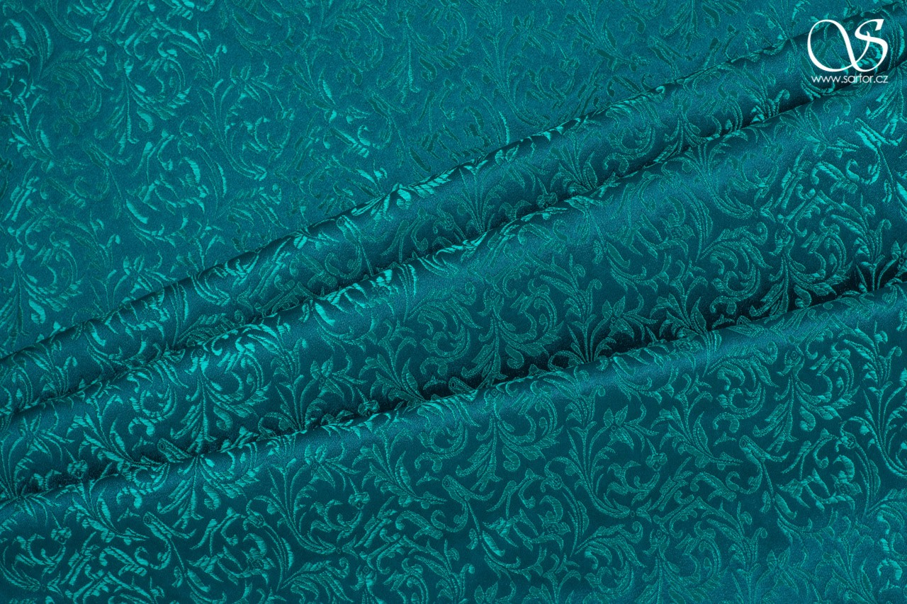 Brocade Ornaments, teal, DEFECTS
