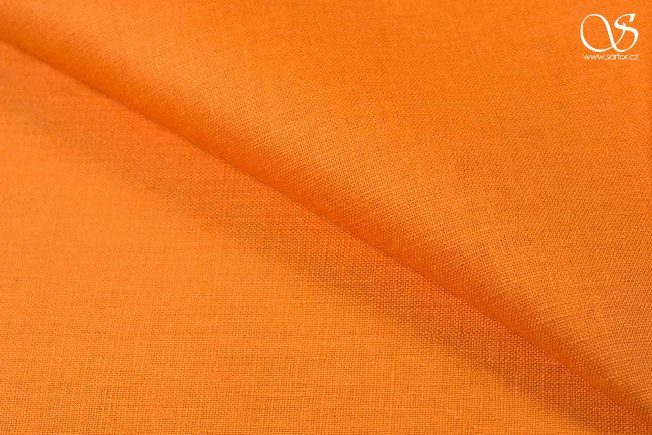 Fine linen, orange, DEFECTS