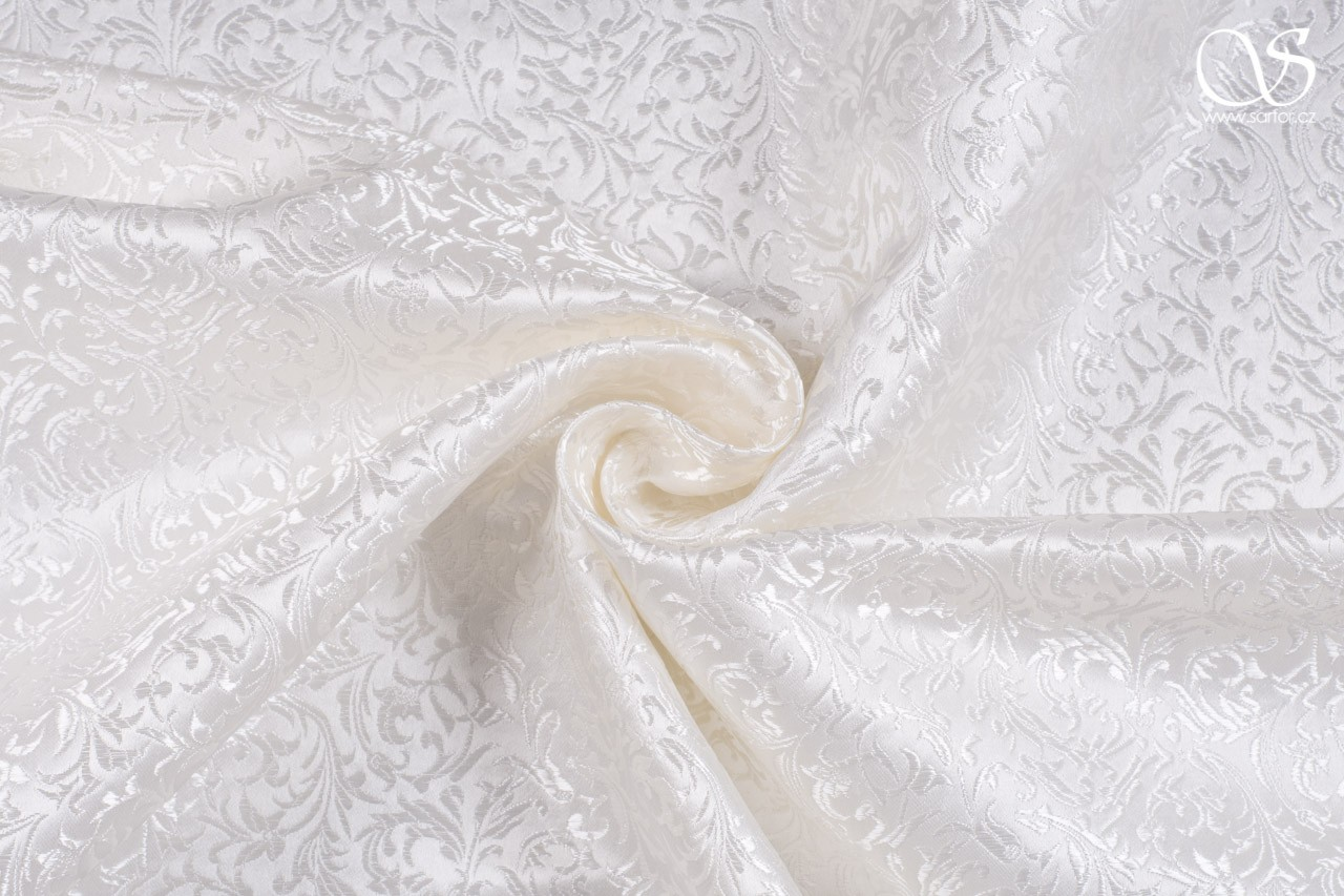 Brocade Ornaments, ivory