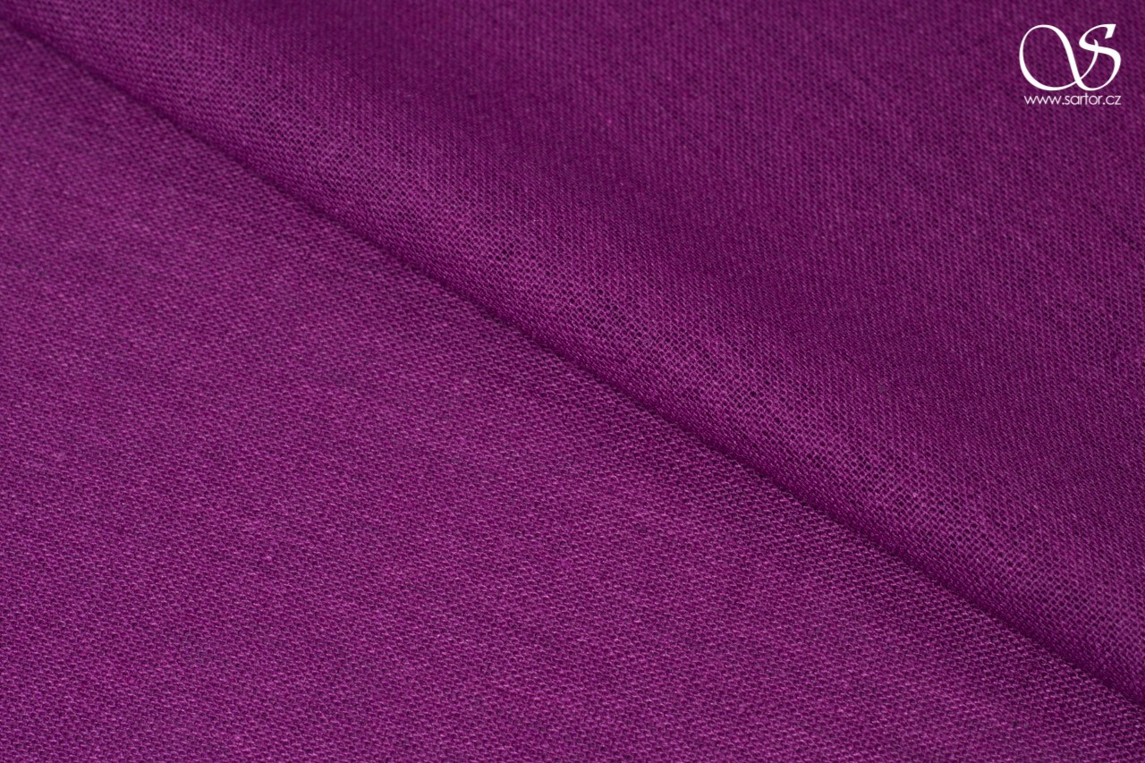 Fine linen with cotton, fuchsia
