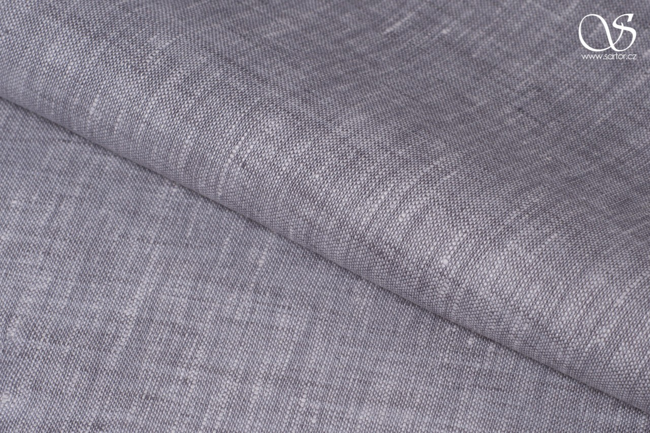 Shot fine linen, light grey