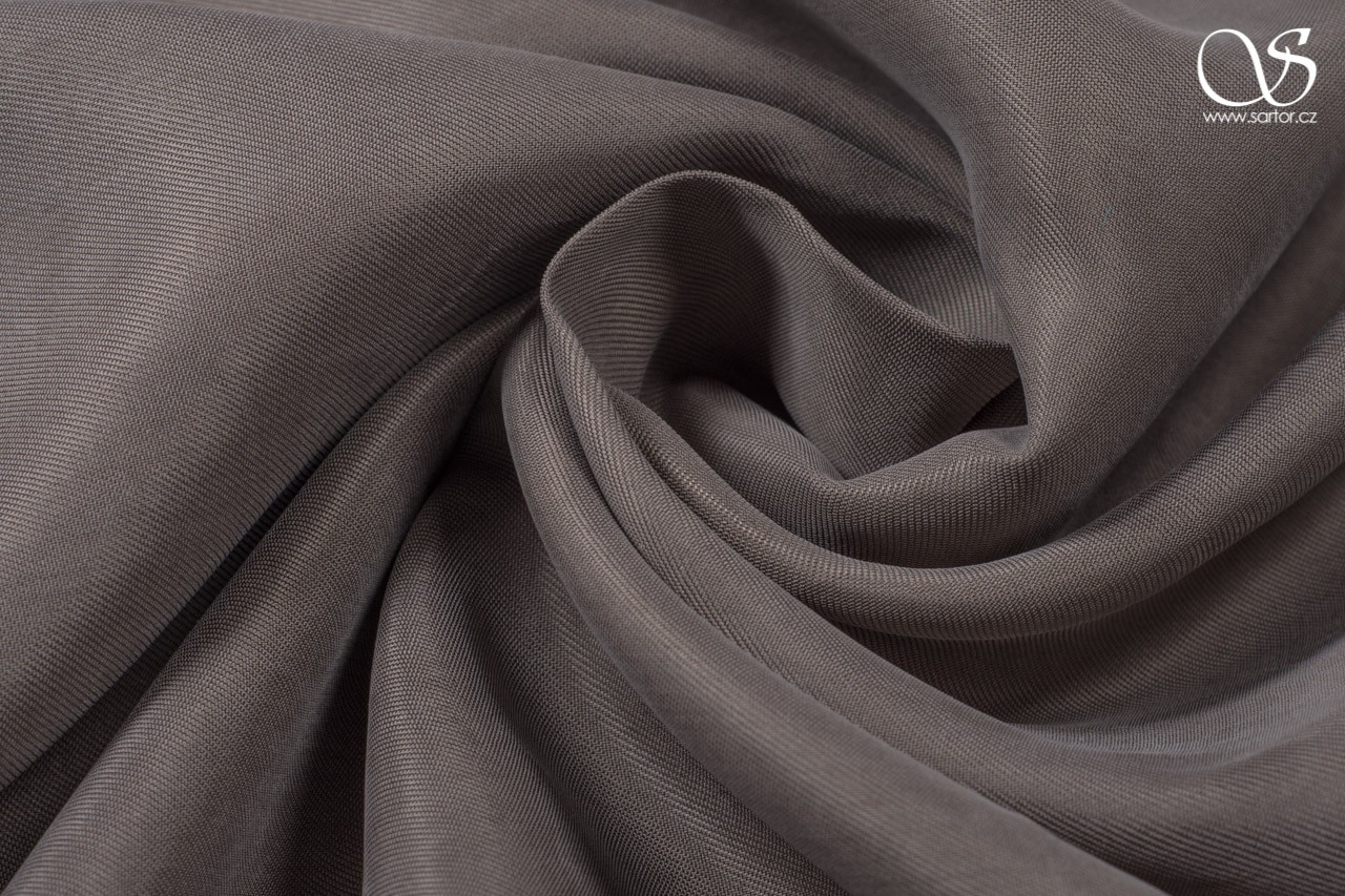 Cupro, grey-brown