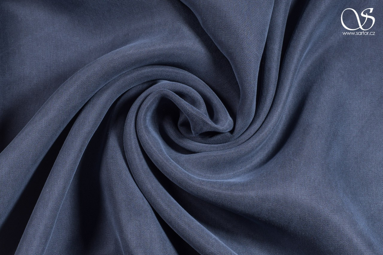 Cupro, dark blue