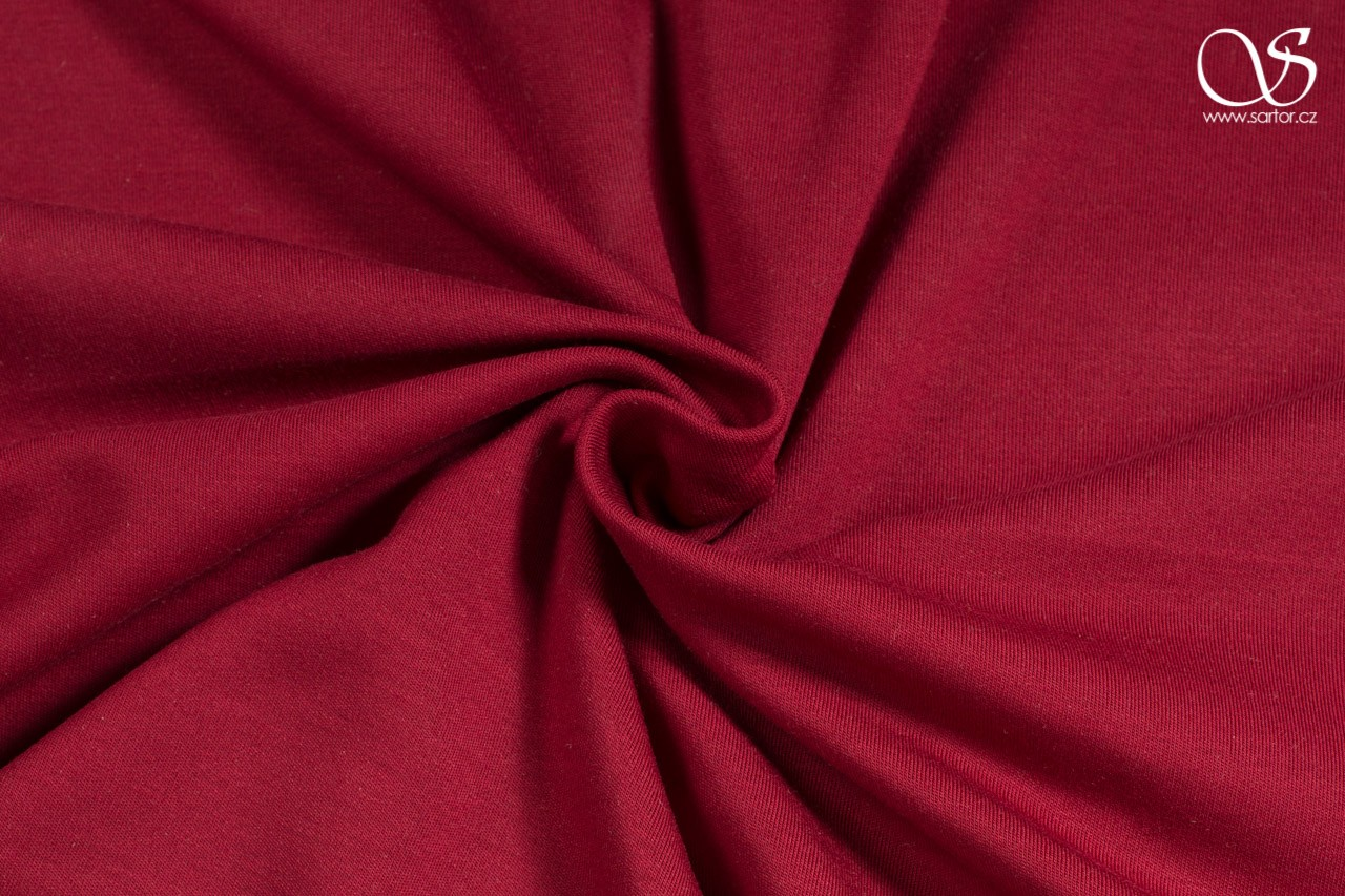 Heavy modal jersey, wine red