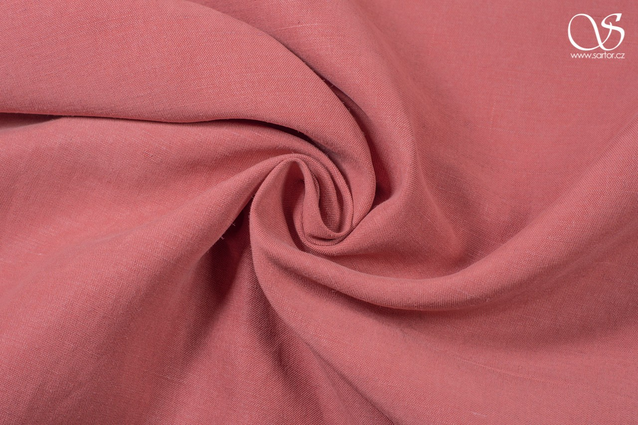 Linen silk blend, antique pink