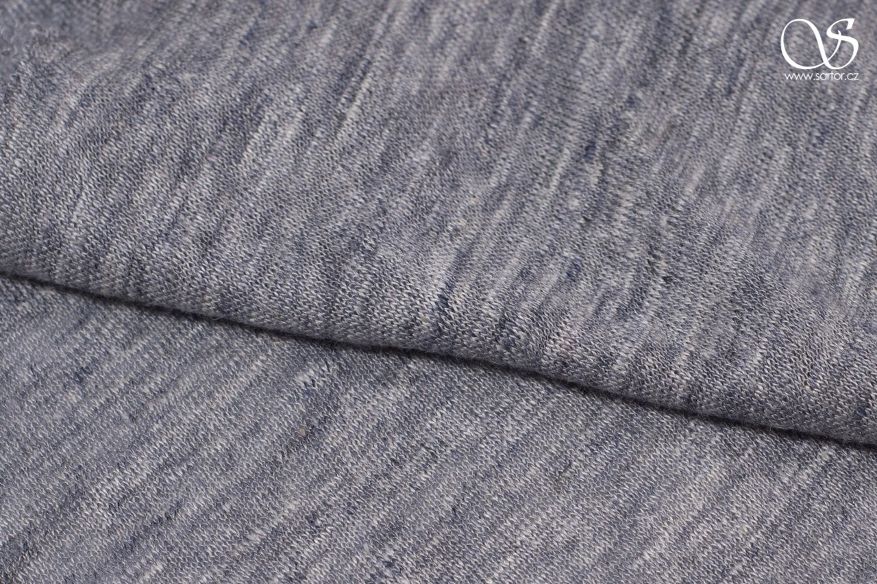 Shot linen jersey, light grey
