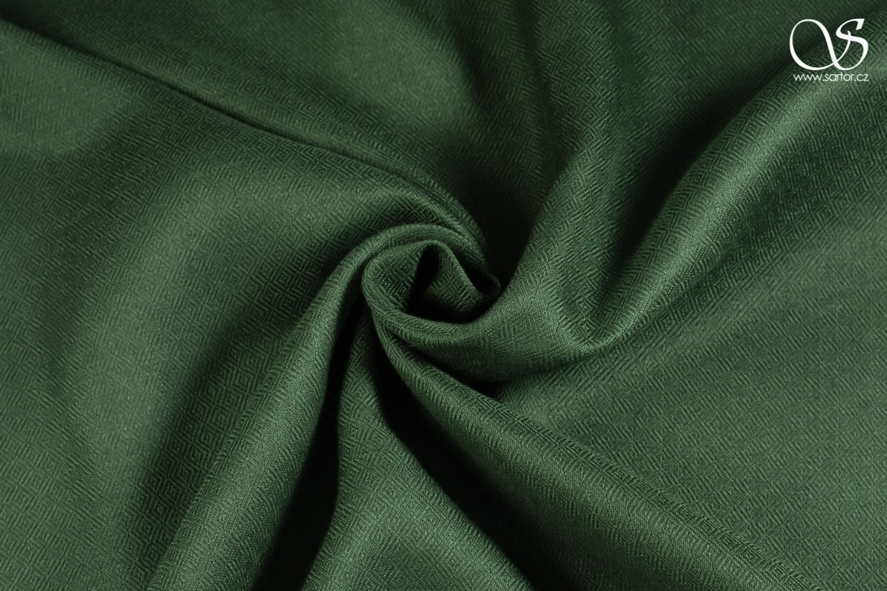 Wild eri silk, diamond, dark green